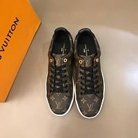 LV  Men Fashion Boots fashionable Casual leather Breathable Sneakers Running Shoes