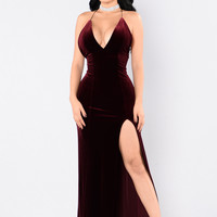Young Scarlet Dress - Burgundy