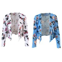 New Autumn Women Mini Printing Slim Small Short Coat Suits Tops Ladies Blazers Work Wear Charming Fashion Casual Famale Jacket