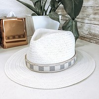Upcycled LV Damier Azur Hat Band