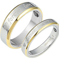His and Her Ladies Mens love ring  White Gold 2 tone 14kt Ring For Wedding26