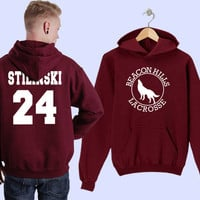 stilinski beacon hills lacrose hoodie unisex adults