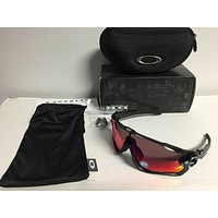 NEW Oakley Polarized Jawbreaker Black Ink w/ OO Red Iridium Polarized, OO9290-08