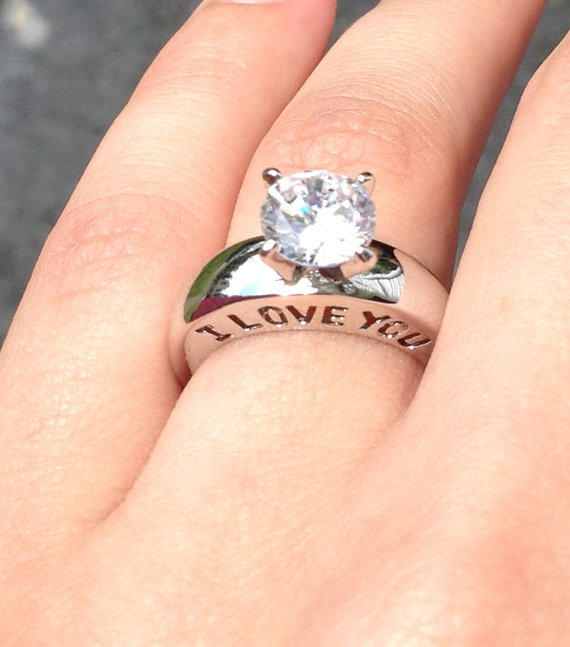 Engraved I Love You Ring Size 5 Cz From Originalgemen