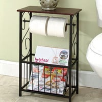 Scrolled Bathroom Storage Table