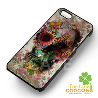 Colorful Floral Skull Art - ziii for  iPhone 4/4S/5/5S/5C/6/6+,Samsung S3/S4/S5/S6 Regular/S6 Edge,Samsung Note 3/4