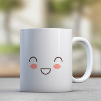 Emoticons - Cute Mugs - Gift for Her - Sister Gift - Girlfriend Gift - Coffee Mugs - Tea