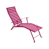 Bistro chaise lounge - colorful Fermob patio lounge chair