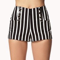 Vertical Striped Mailot Shorts