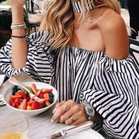 Casual Fashion Off Shoulder Blouse