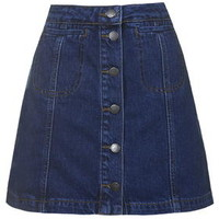 TALL Button Pocket Skirt - Mid Stone