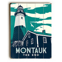 Montauk Lighthouse by Artist Matthew Schnepf Wood Sign