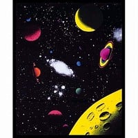 Outer Space - Blacklight Tapestry