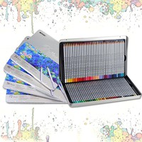 Marco Raffine 72 Colors Lapis De Cor Professional Oil Colored Pencil Set For Drawing Painting Sketch Tin Box Art School Supplies