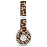 The Simple Vector Cheetah Print Skin for the Beats by Dre Solo 2 Headphones
