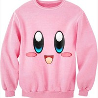 ISWAG men/women sexy 3D print cc sweat shirt kirby cartoon sweater jumper couples love pink cute smile sportswear varsity jacket-in Hoodies & Sweatshirts from Women's Clothing & Accessories on Aliexpress.com   Alibaba Group