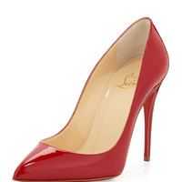 Pigalle Follies Point-Toe Red Sole Pump, Red - Christian Louboutin - Red (39.5B/9.5B)