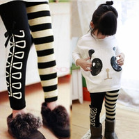 Baby Costume Girls Clothing Sets Panda Pullover Striped Leggings Spring Kids Clothes Sets SV006379|26601 Children's Clothing = 5613049409