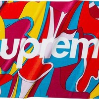 Supreme Abstract Beach Towel - Red