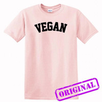 Vegan for shirt light pink, tshirt light pink unisex adult