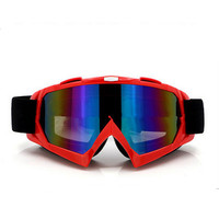 Adult Colourful double Lens Snow Ski Snowboard Goggles Motocross Anti-Fog Fashion Eye Protection Red Colour