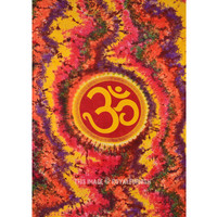 Twin Colorful Hippie Hindu OM Symbol Tapestry Wall Hanging Bedspread on RoyalFurnish.com