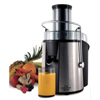 Sharper Image 700 Watt Stainless Steel Juicer - Dishwasher Safe Parts