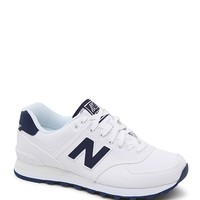 New Balance Multicolor 574 Pique Polo Collection Running Sneakers - Womens Shoes - White