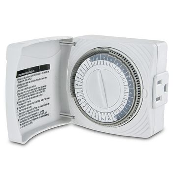 Westek Daily Timer with Grounded Outlet - White