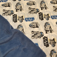 Baby Blanket Star Wars R2D2 CUSTOM Personalized Star Wars Baby Nursery Shower Gift SeT Burp PPTP Pacifier Pod Boutique Designs by Sugarbear
