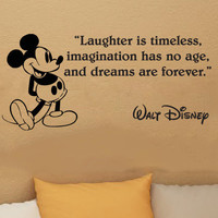 Walt Disney Mickey Mouse Laughter Is Timeless wall quote vinyl wall art decal sticker