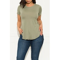 Fall In Line Top Olive