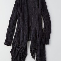 AEO Women's Fringe Open Cardigan
