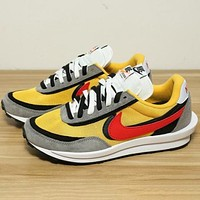 NIKE Sacai x Nike LVD Waffle Daybreak Fashion New Hook Women Men Hit Color Sports Leisure Shoes