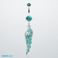 Jeweled Angel Wing Sparkle Belly Ring