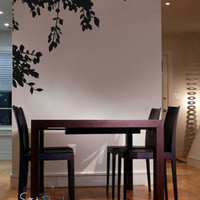 Vinyl Wall Decal Sticker Hanging Tree Leaves #693