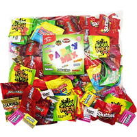 Christmas Candy Party Mix Bulk Bag of 3 Lbs Skittles Swedish Fish Nerds Haribo Gummy Sour Patch Twizzlers Life Savers Starbutst Mike and Ike Custom Varietea Peppermints n' more! Net wt 3.0 LB/48 oz