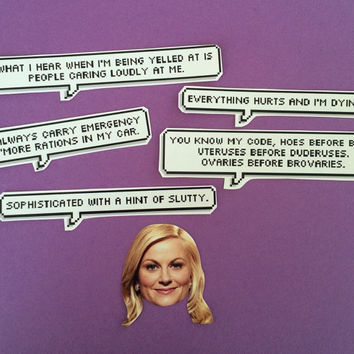 Leslie Knope Quotes Sticker Set