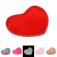 NEW Home Decor Products Fluffy 6 Colors Love Heart Bedroom Rug 2 Size Carpet Floor Bath Mat Chenille Doormat