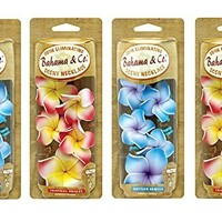 Bahama & Co. Flower Necklace Car Air Freshener 4 Pack
