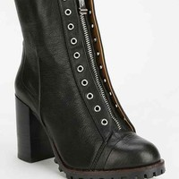 Report Alexea Zip-Front Heeled Ankle Boot- Black