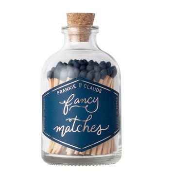 Small Navy Blue Match Jar