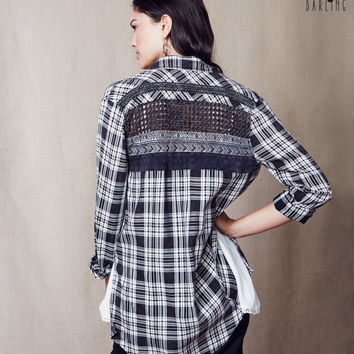 Tokyo Darling Oversized Plaid Shirt