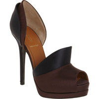 Fendi Layered Satin D'Orsay Pump at Barneys.com