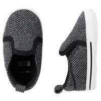 Carter's Herringbone Slip-On Crib Shoes
