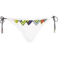 River Island Womens White Pacha embellished bikini bottoms