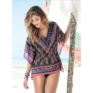 Mapale Sheer Dream Catcher Beach Cover-Up
