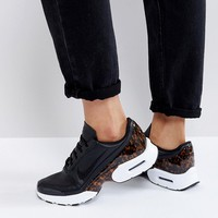 Nike Air Max Jewell Lx Sneakers In Black Leather at asos.com