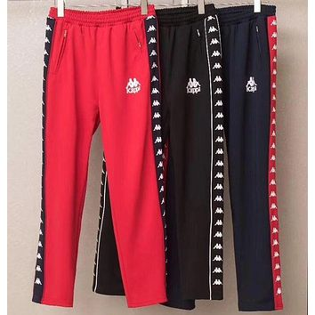 """""""Kappa"""" Tnt Tape Embroidery Casual Trousers Pants"""