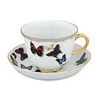 Christian Lacroix - Butterfly Parade 24K Gold & Platinum-Trimmed Tea Cup & Saucer - Saks Fifth Avenue Mobile